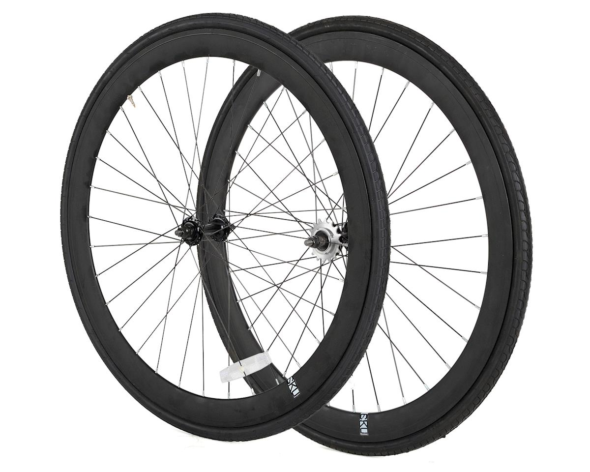 6KU Deep V Single-Speed/Fixed Wheelset (Black)
