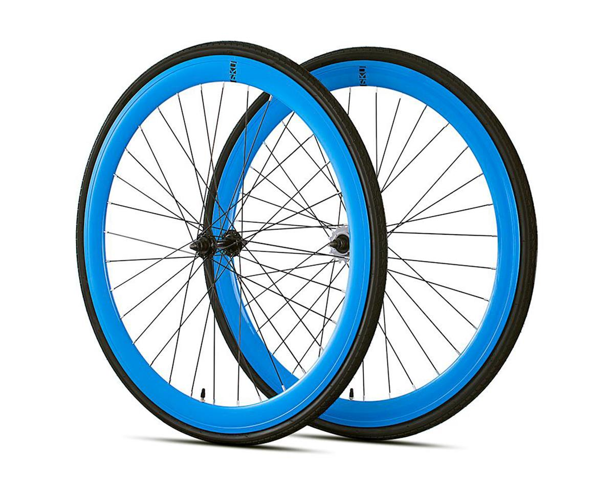 6KU Deep V Single-Speed/Fixed Wheelset (Gloss Blue)