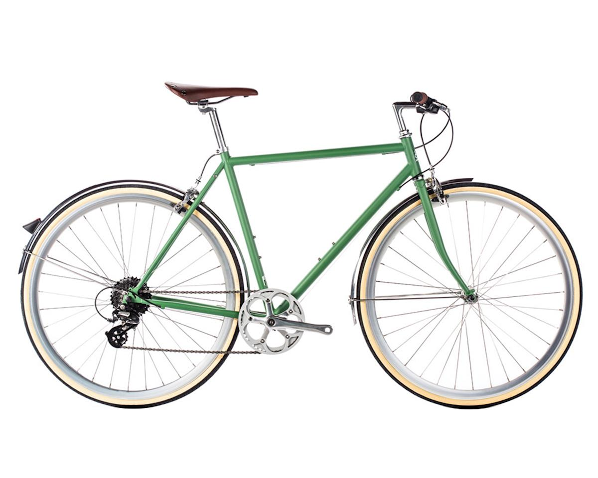 6KU 8-Speed Men's Commuter Bike (Silverlake/Army Green)