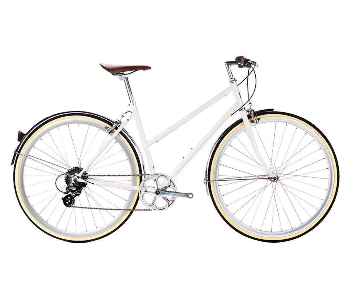 6KU Odessa Womens 8 Speed Hybrid (Coney White) (Small 43cm)