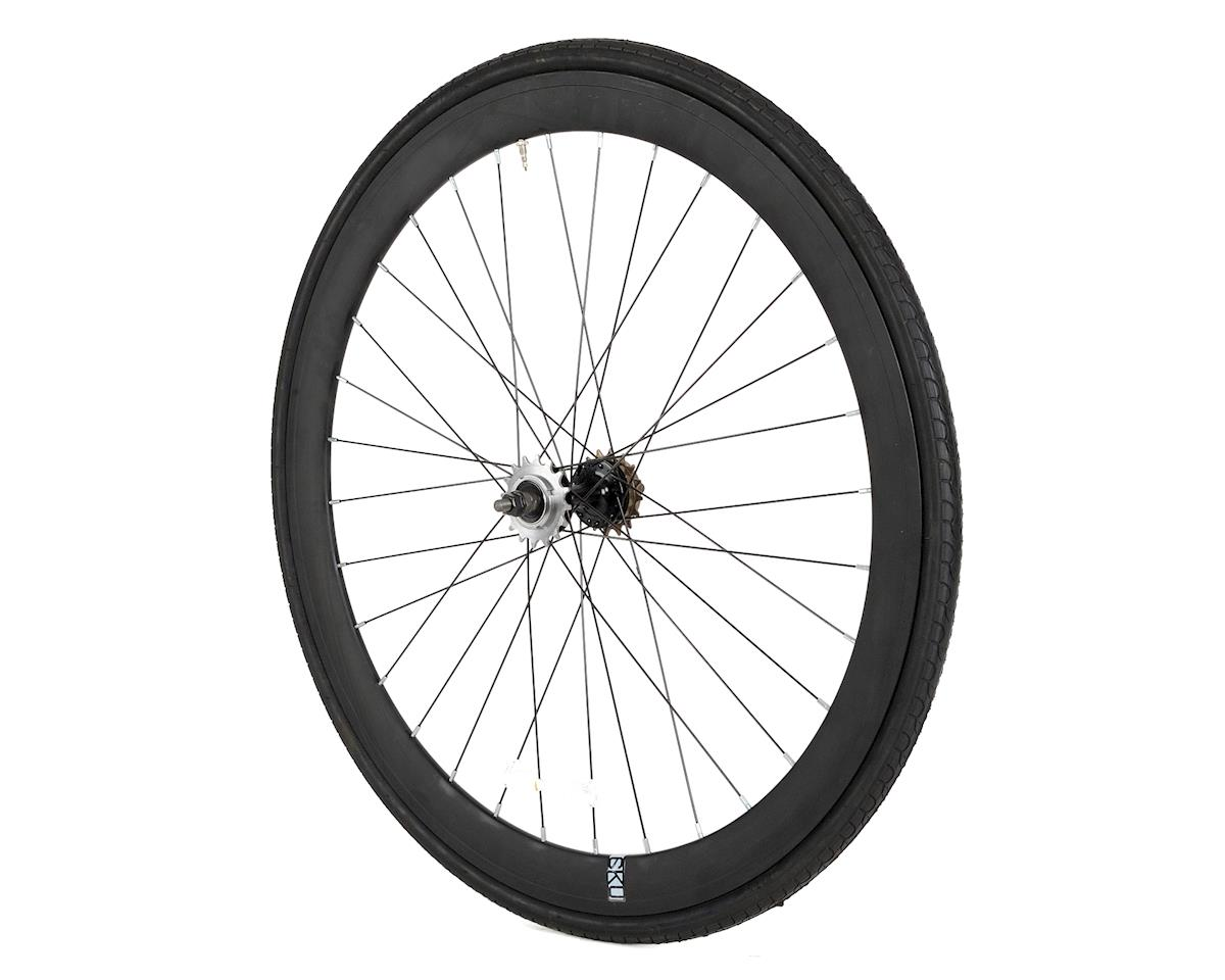 6KU Deep V Wheel Rear (Black) (Dual Sided Fixed/Freewheeel)