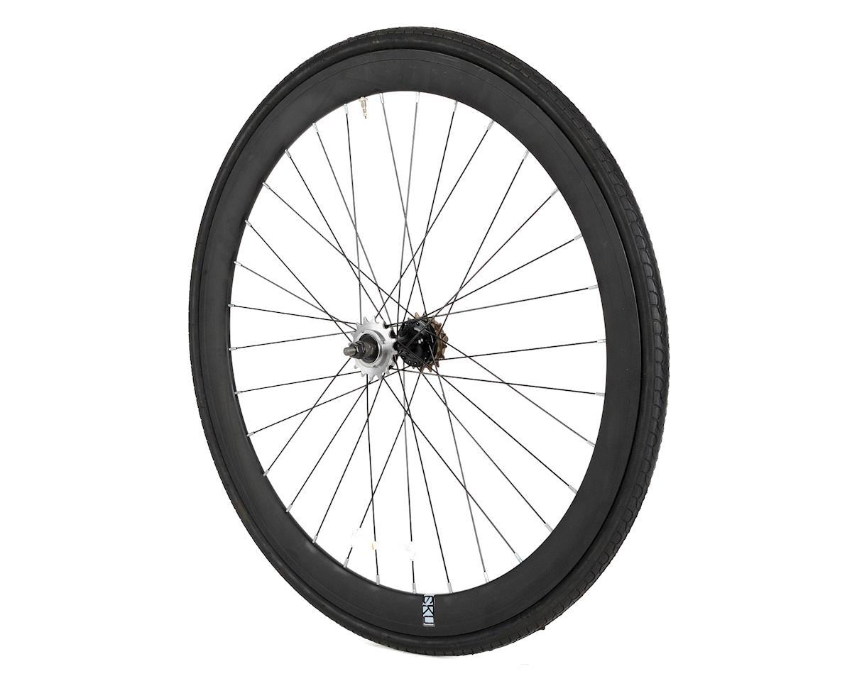 6KU Deep V Wheel Rear (Black) (Dual Sided Fixed/Freewheeel)