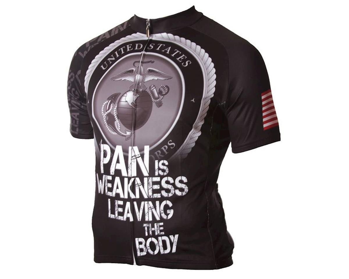 83 Sportswear U.S. Marine Corps Pain Is Weakness Short Sleeve Jersey (Black)