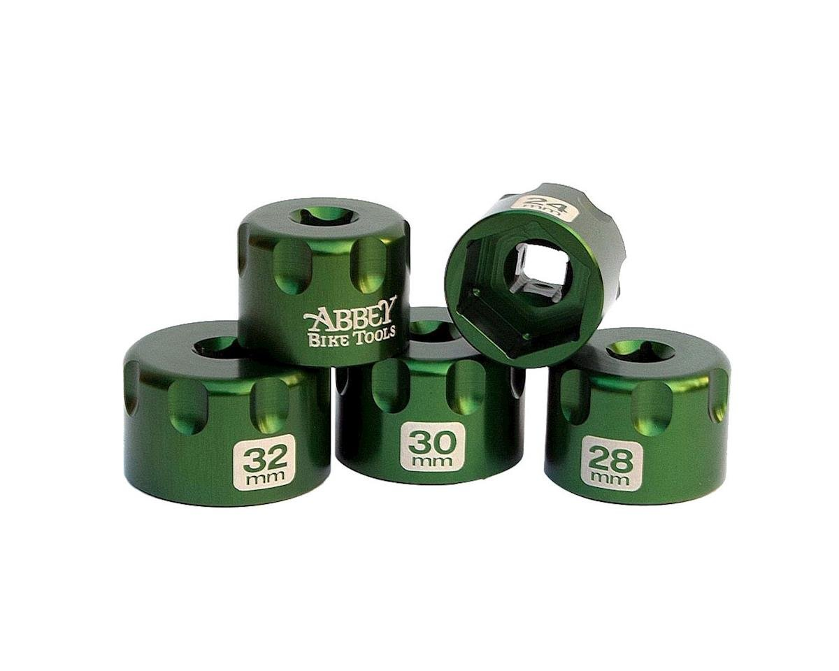 Abbey Bike Tools Suspension Top Cap Socket Set (Green) (6)