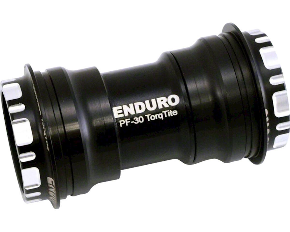 Enduro TorqTite Bottom Bracket: PF30 to 24mm, Angular Contact Stainless Steel Be