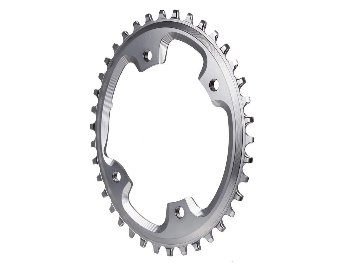 grey Absolute Black 110BCD asymmetric CX 1X oval chainring 40T