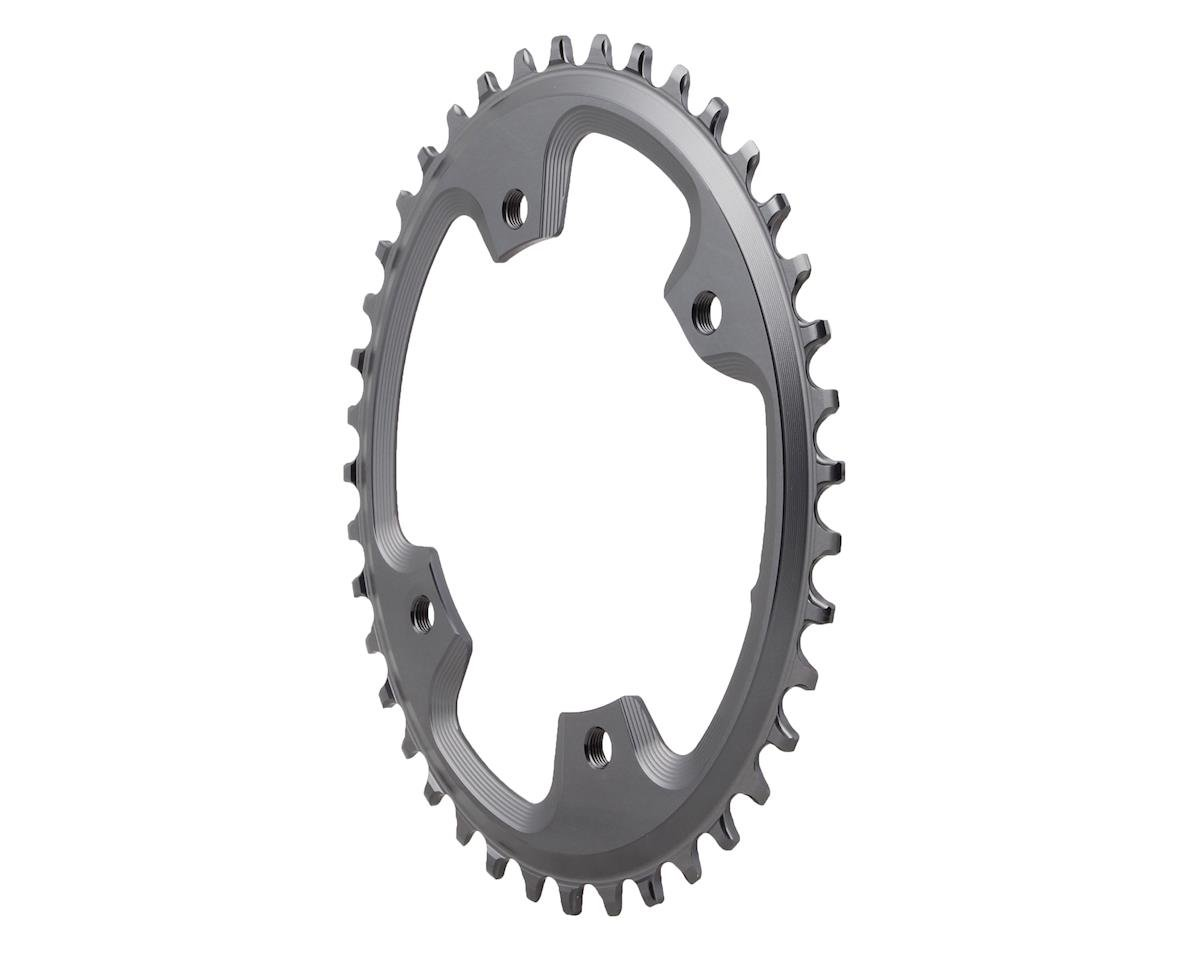 Absolute Black Asymmetric CX 1X Oval Chainring (Grey) (110 BCD) (40T)