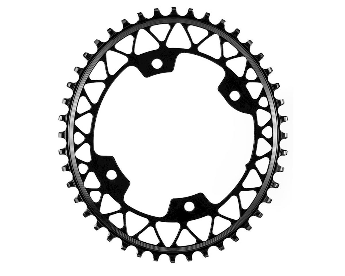 Absolute Black Asymmetric Gravel 1X Oval Chainring (110 BCD) (48T)