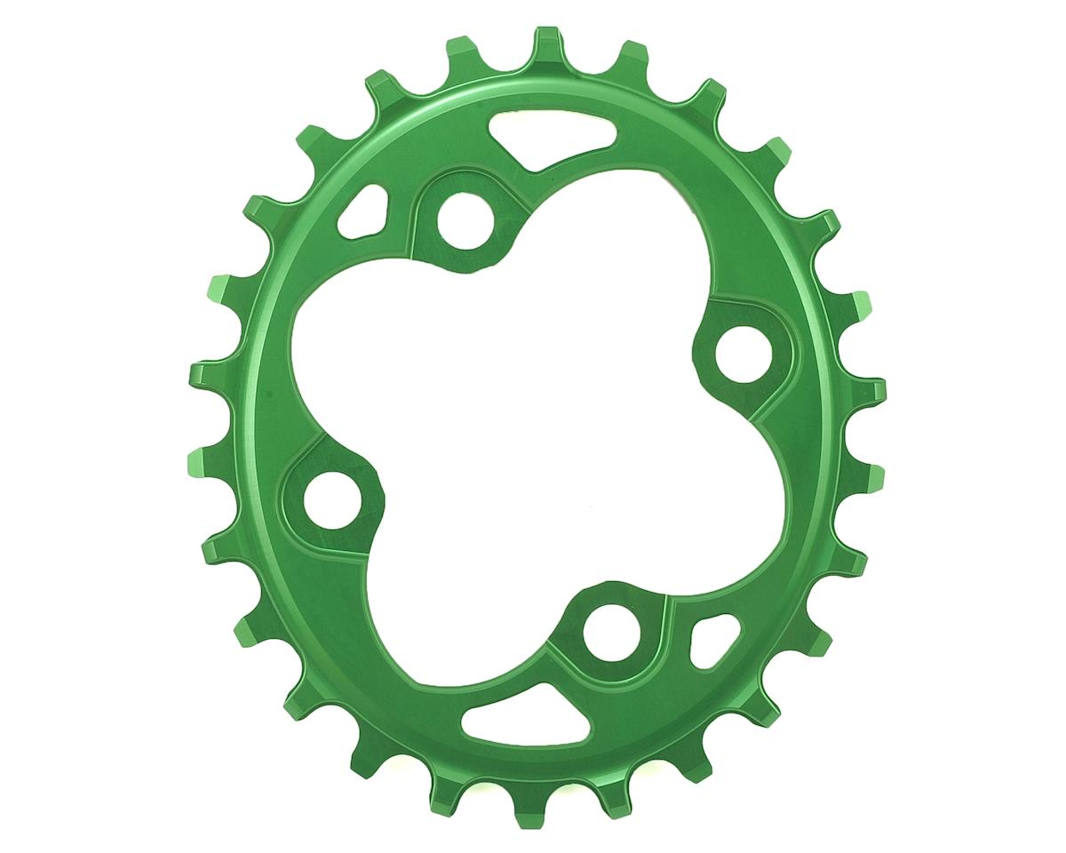 Absolute Black Oval Traction Chainring (104/64 BCD) (Green)