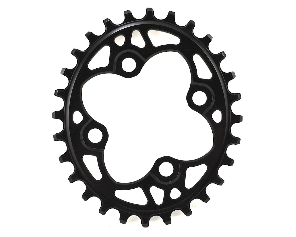 Absolute Black Oval Traction Chainring (104/64 BCD) (Black)