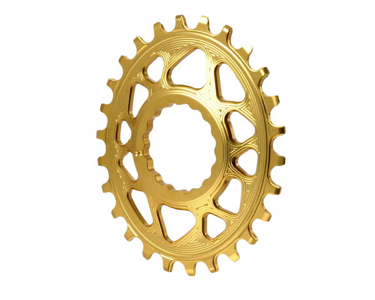 Absolute Black Spiderless Cinch DM Oval Boost chainring, 26T - gold