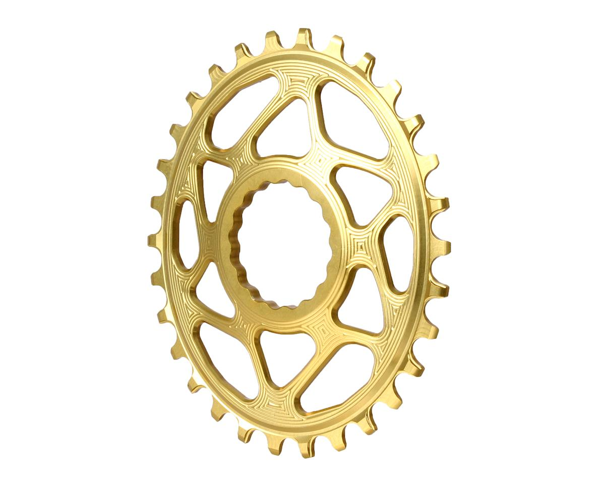 Absolute Black Spiderless Cinch DM Oval Boost chainring, 30T - gold