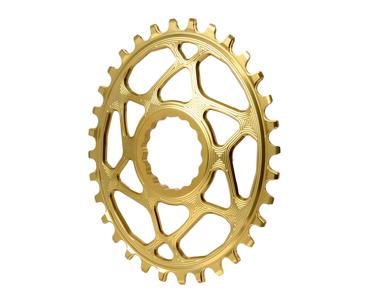 Absolute Black Spiderless Cinch DM Oval Boost chainring, 32T - gold