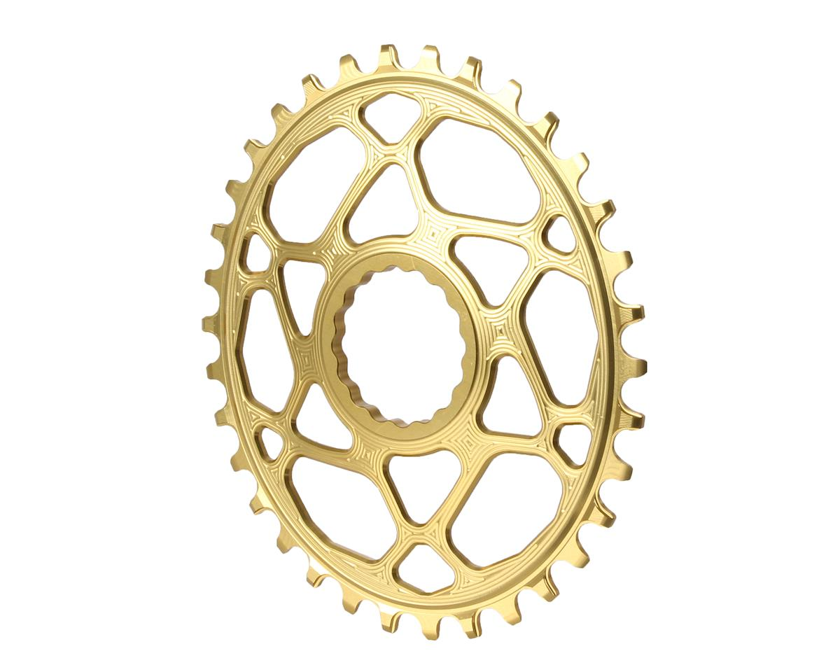 Absolute Black Spiderless Cinch DM Oval Boost chainring, 34T - gold