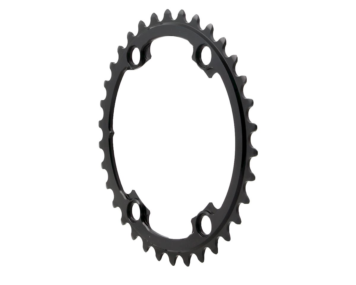Absolute Black Round Chainring (Shimano Asymetrical) (110 BCD) (34T)