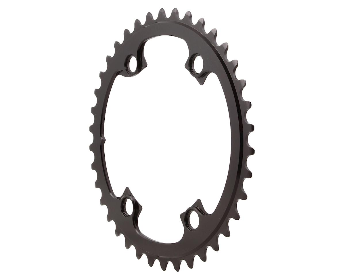 Absolute Black Round Chainring (Shimano Asymetrical) (110 BCD) (38T)