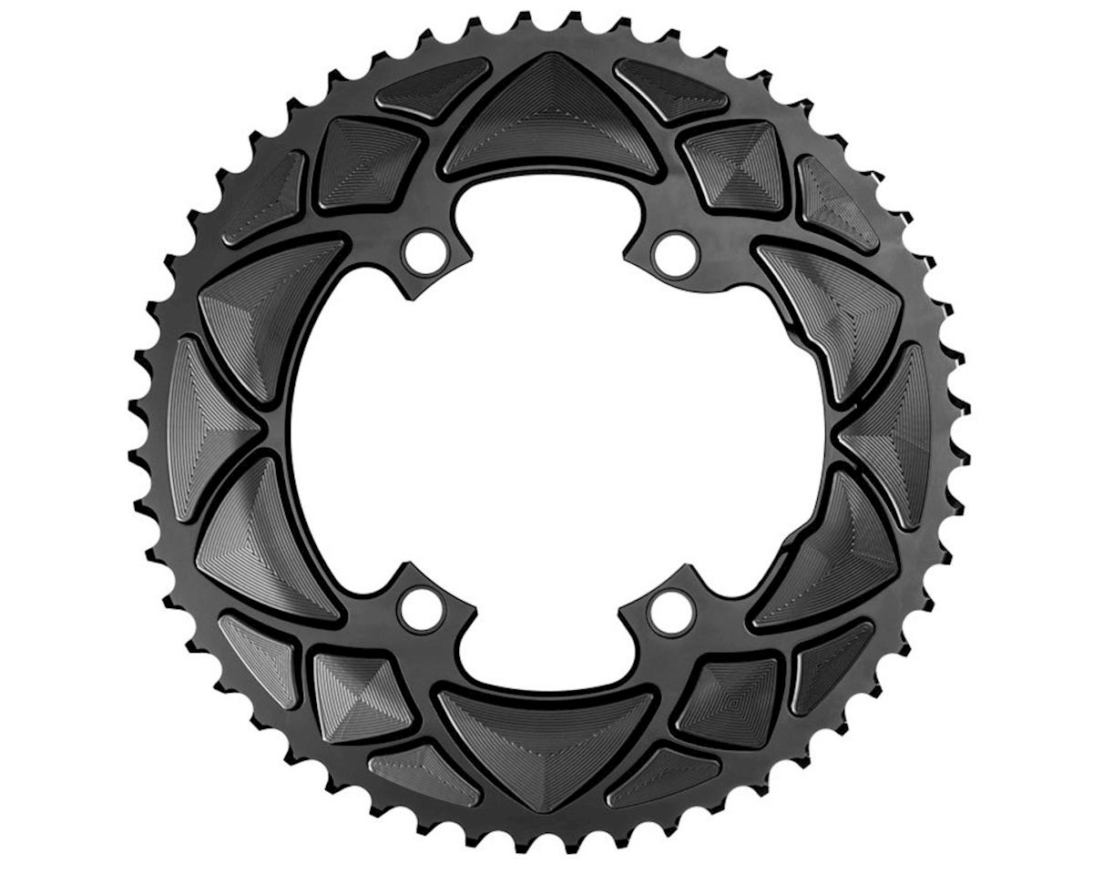 Absolute Black Round Chainring (Shimano Asymetrical) (110 BCD) (50T)