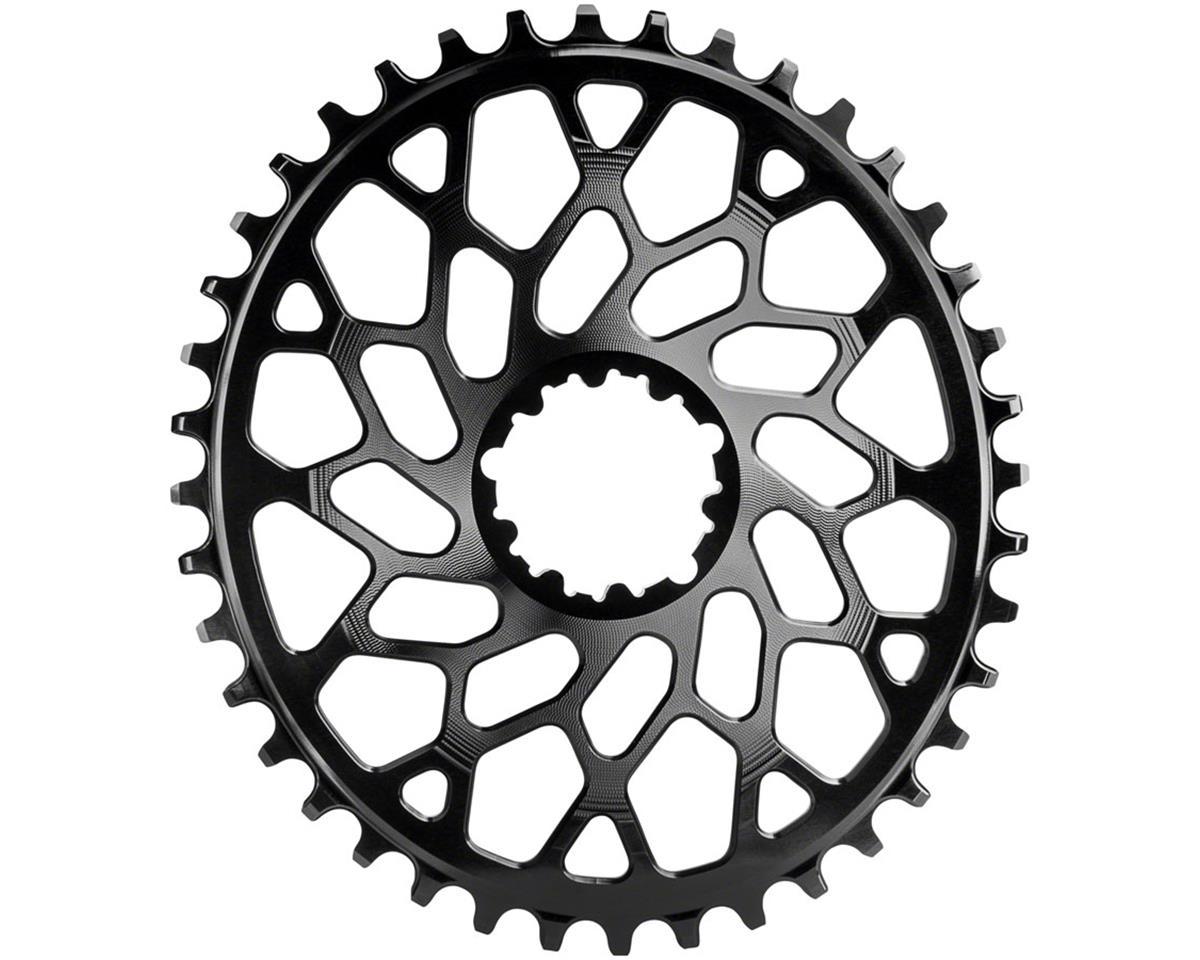 Spiderless GXP/BB30 DM CX oval chainring, 46T - black