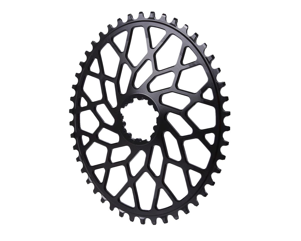 Absolute Black Spiderless GXP/BB30 DM CX oval chainring, 46T - black