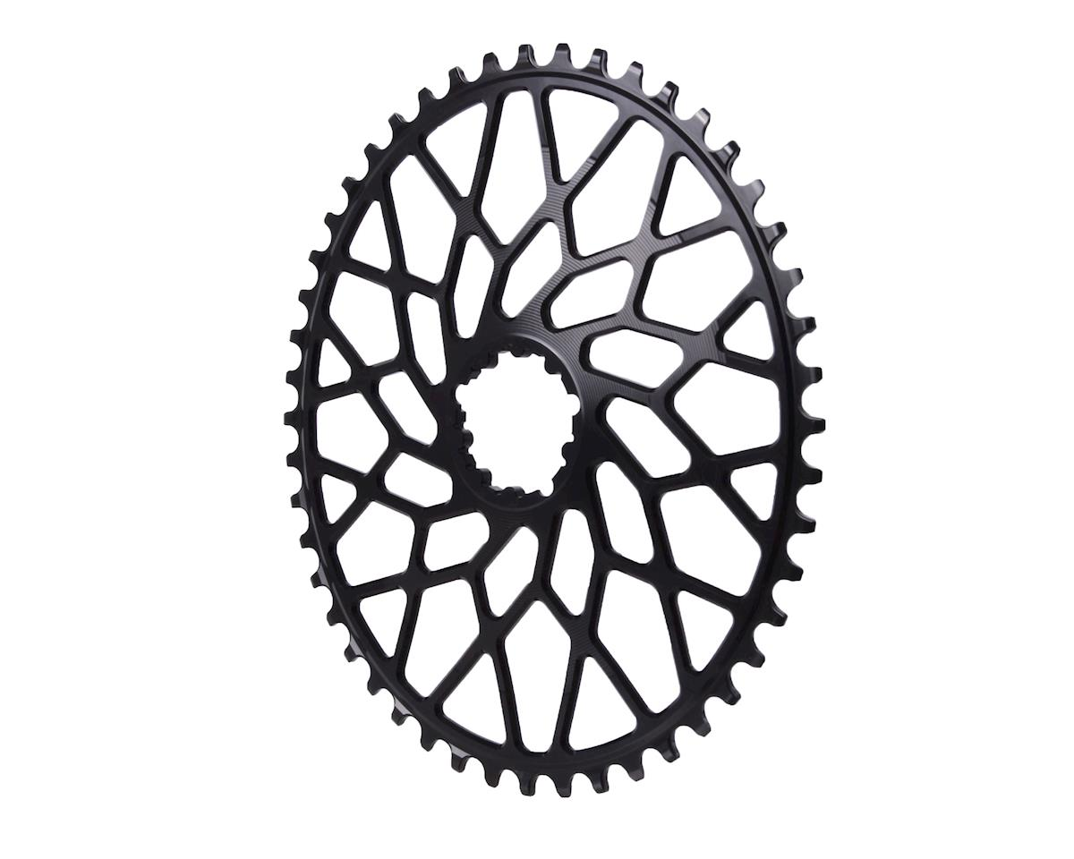 Absolute Black Spiderless GXP/BB30 DM CX oval chainring, 48T - black