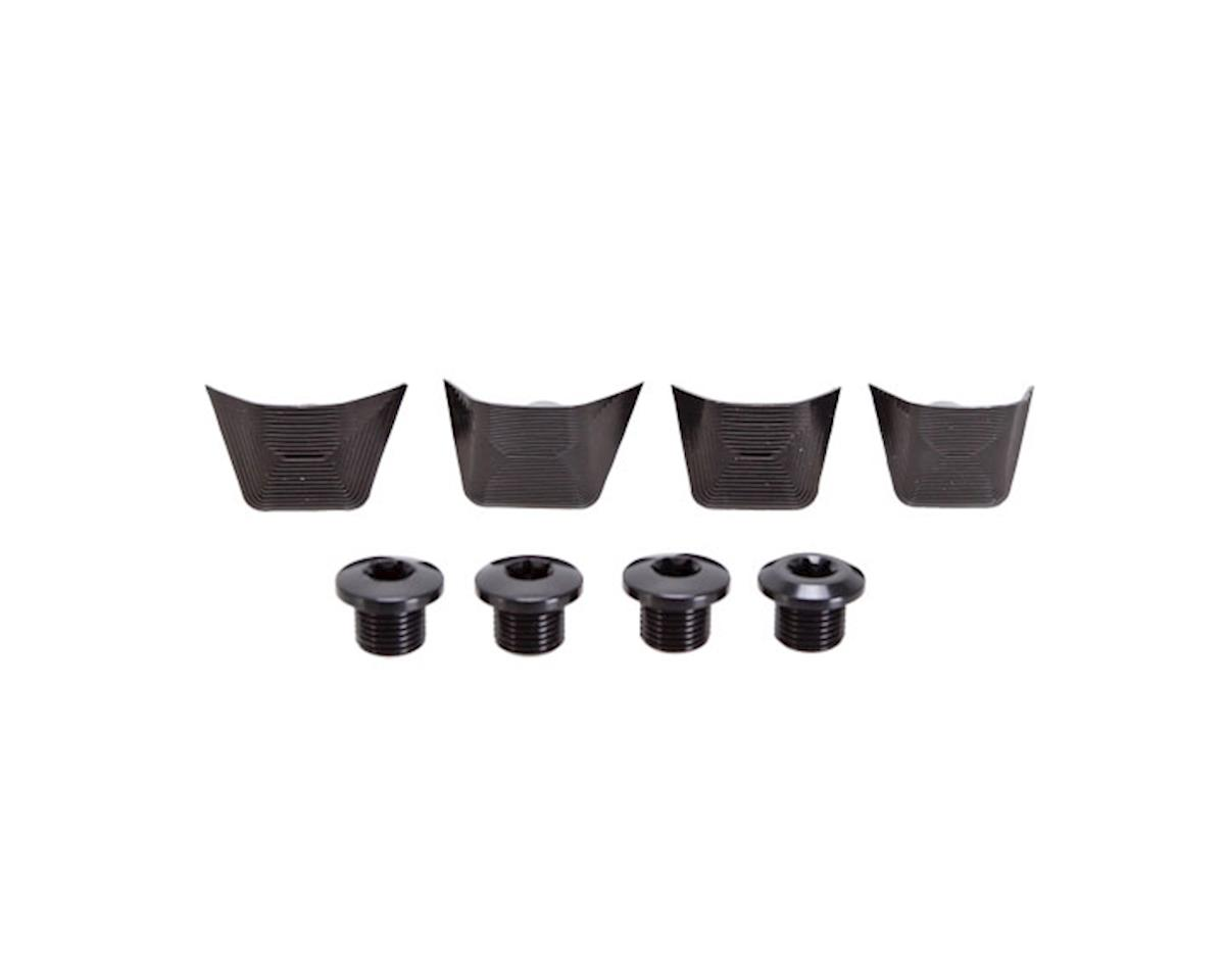 Absolute Black Chainring Bolt Set Absoluteblack Ul6800 Bolts+Covers Bk
