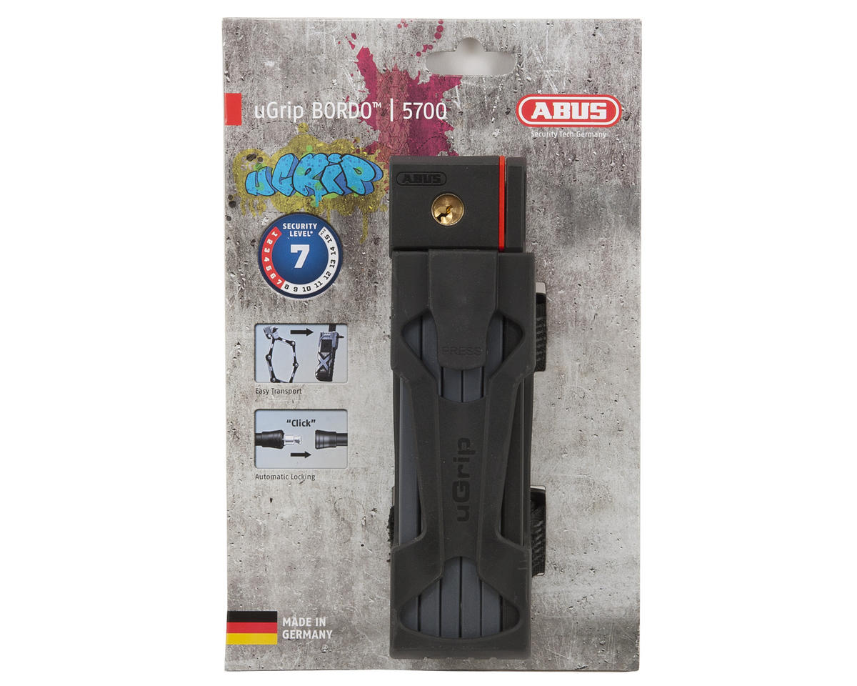 Abus uGrip Bordo 5700 Folding Lock (Black) (80cm)