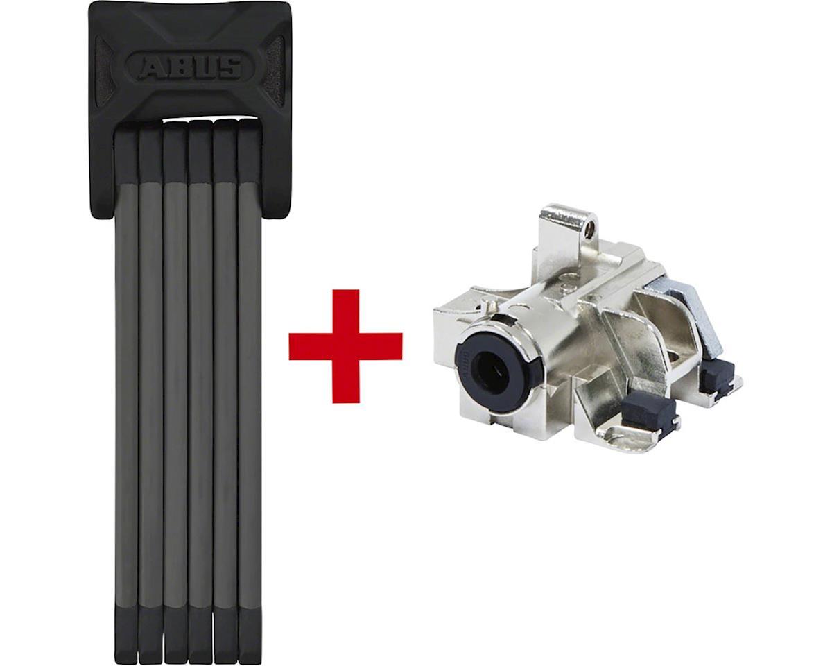 ABUS Bordo 6000 Keyed Folding Lock: 90cm Black Plus Bosch Battery Rack