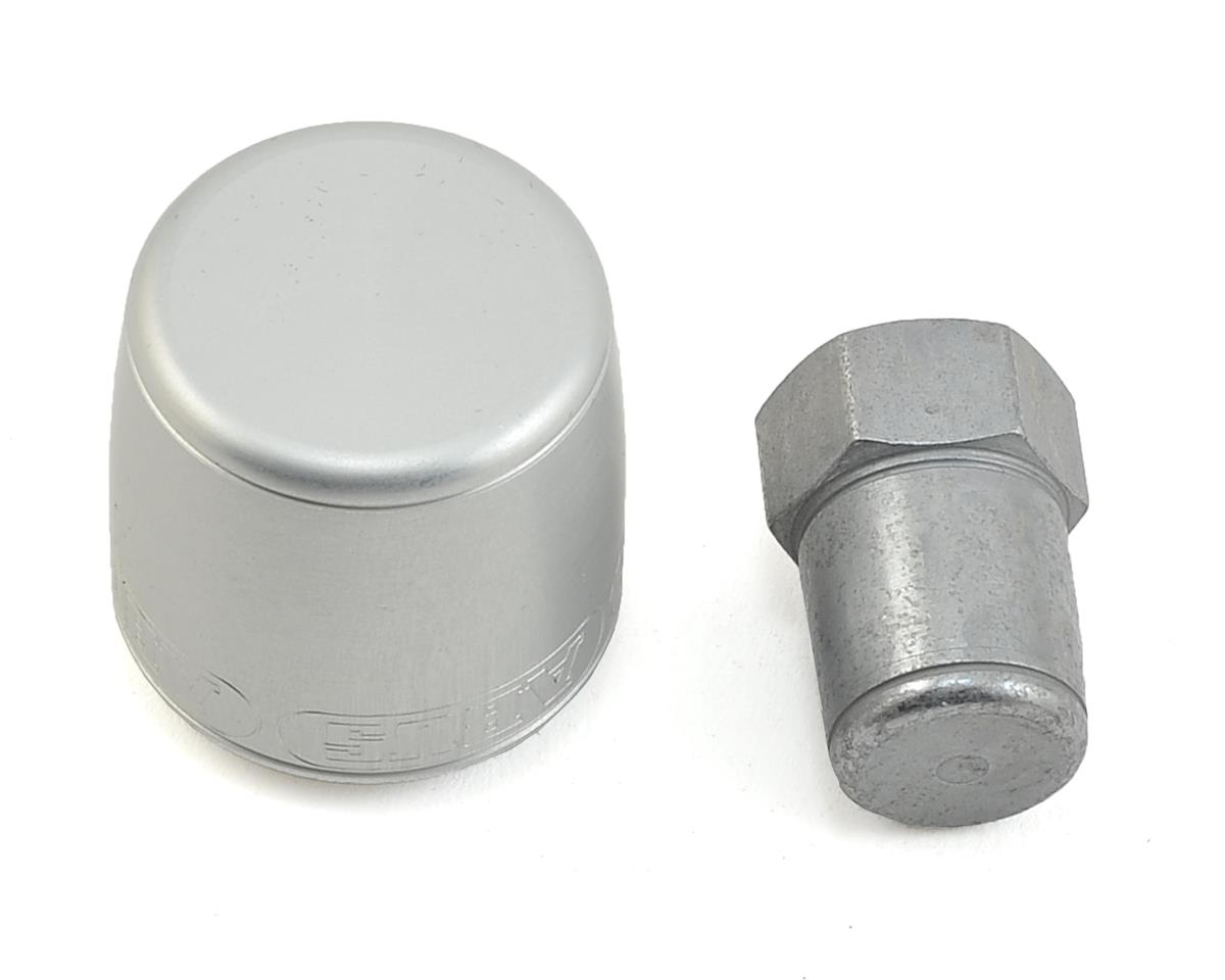 Abus Nutfix Axle Locking Nut (Silver) (2-pack) (M9)