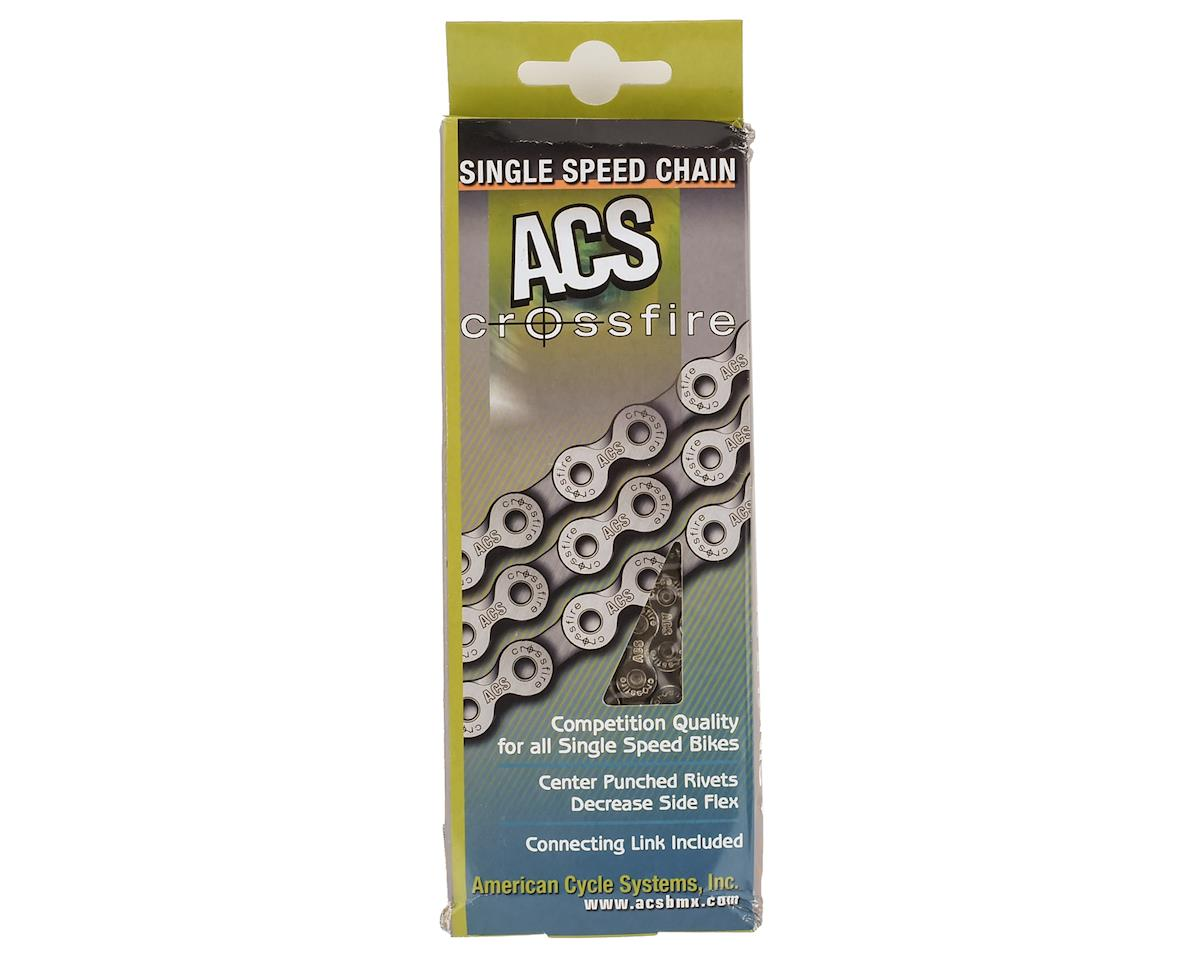 Black//Nickel ACS 106-Link Crossfire Chain for Performance Bicycle Race BMX Bike