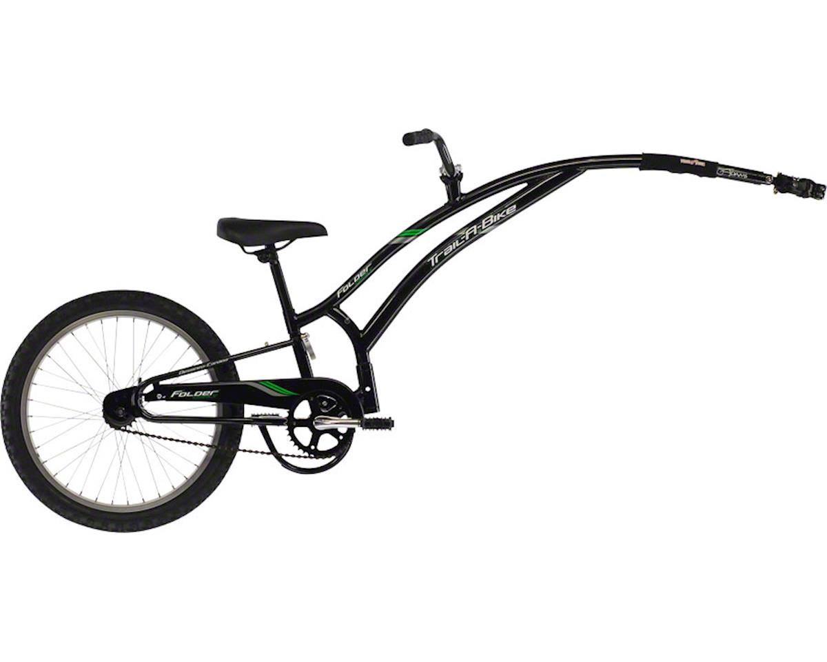 Adams Trail A Bike Compact Folder Child Trailer: Black