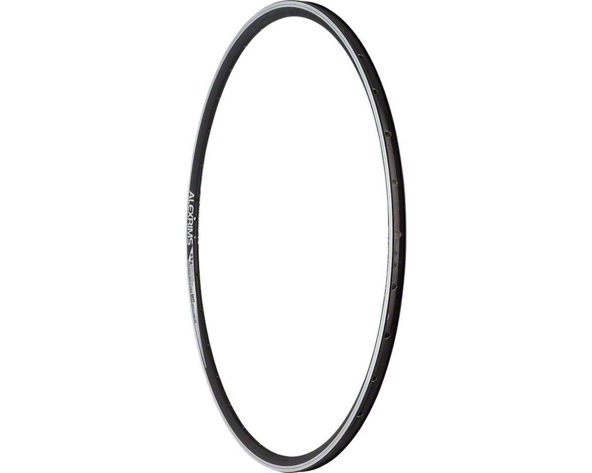 DA22 Rim 700c 32h Presta, Black with Machined Silver sidewalls