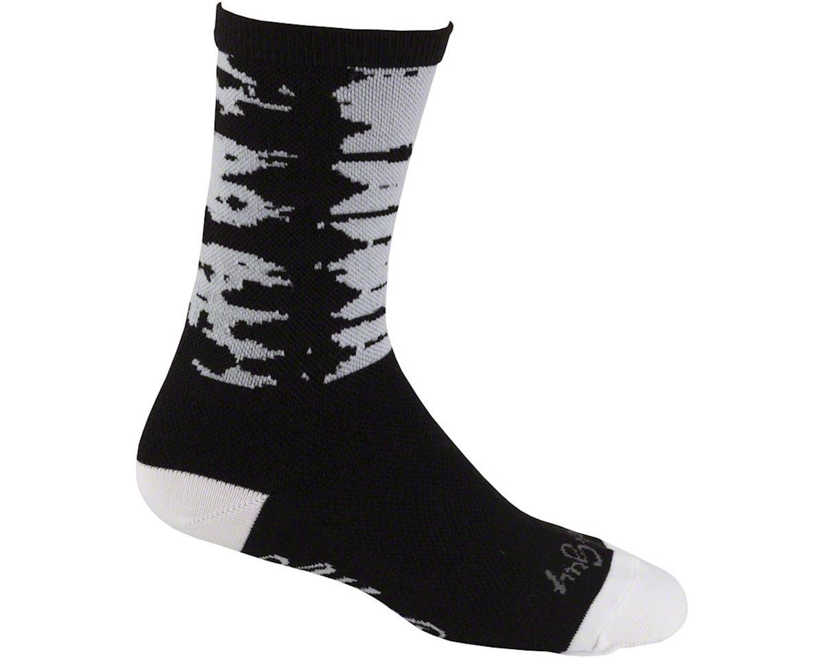 All-City Darker Wave Sock:s Black/Blue LG/XL