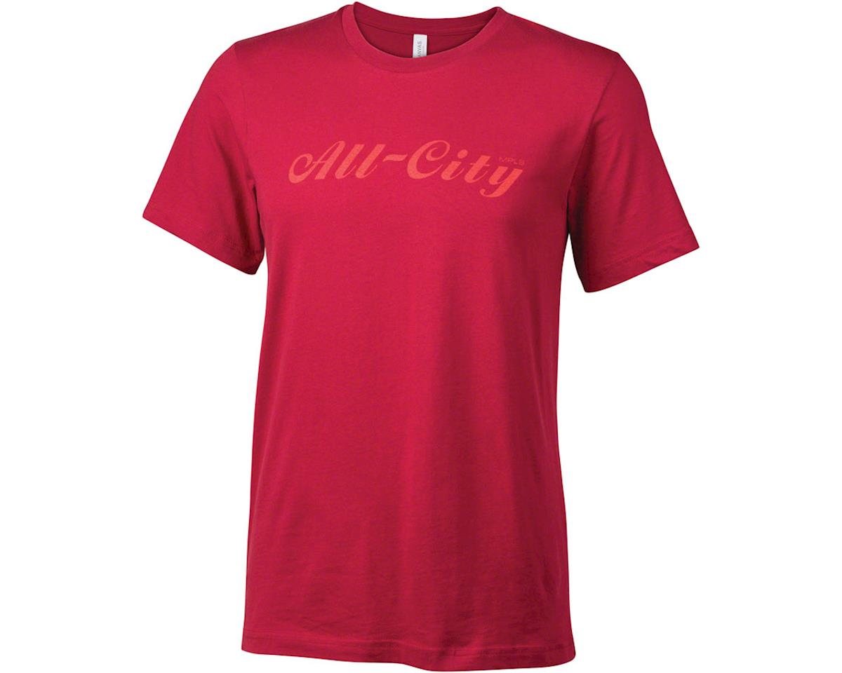All-City Script Logo Men's T-Shirt: Black/Purple XL