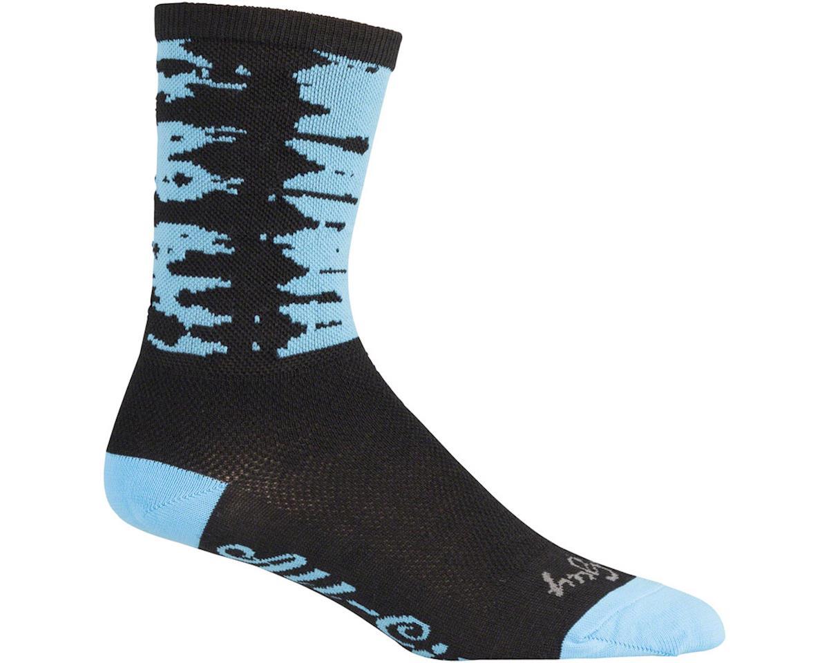 Darker Wave Socks (Black/Blue)