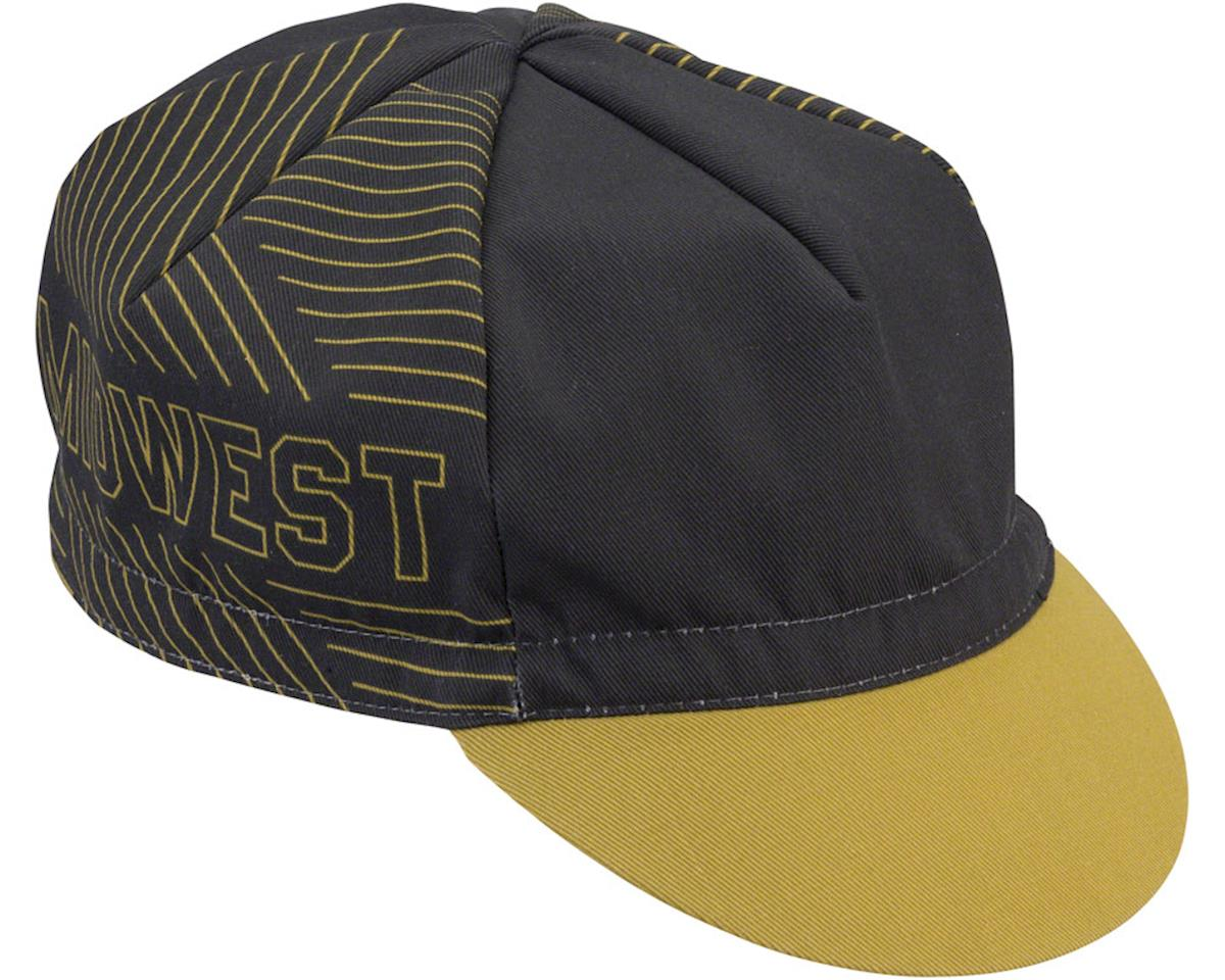 All-City Midwest Cycling Cap: Gold/Black One Size