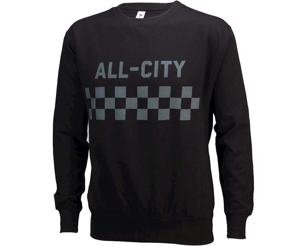 All-City Classic Crew Sweatshirt: Black XL