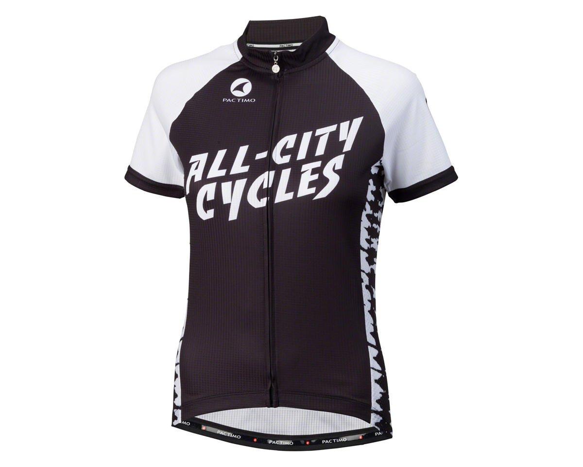 All-City Wangaaa! Women's Cycling Jersey (Black/White)
