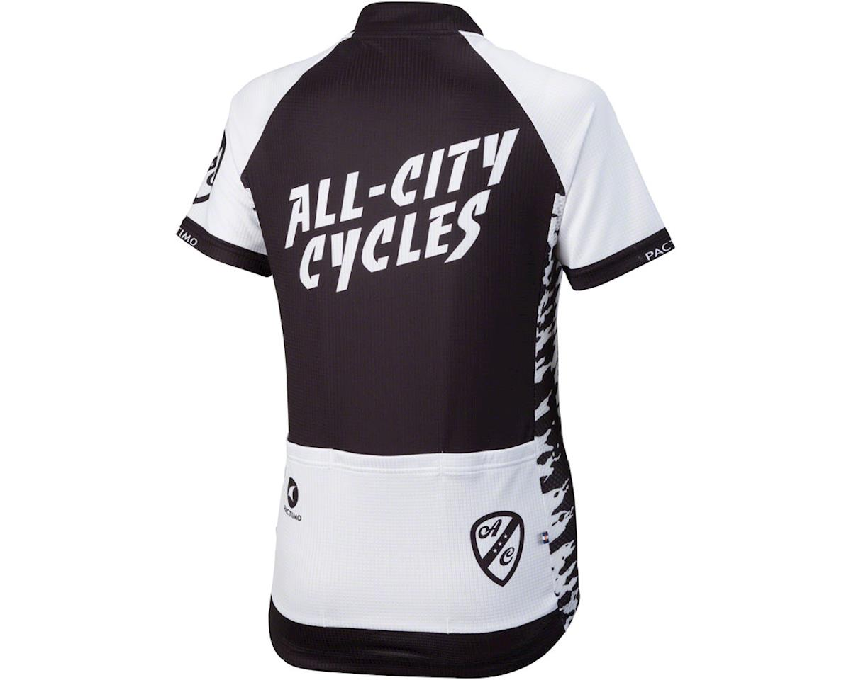 All-City Wangaaa! Women's Cycling Jersey (Black/White) (S)