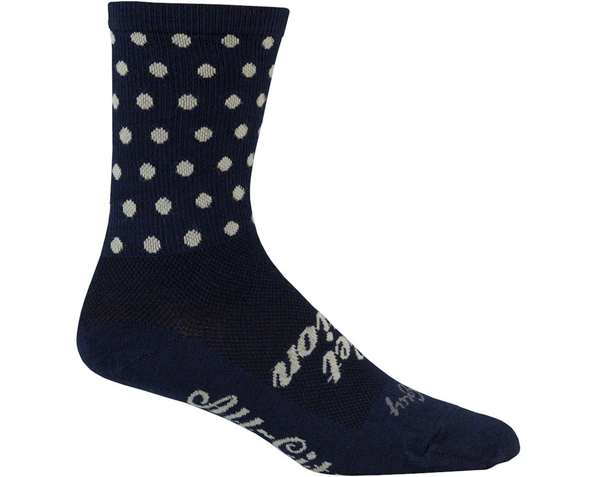 All-City Get Action Wool Sock (Blue/Oatmeal) (S/M)