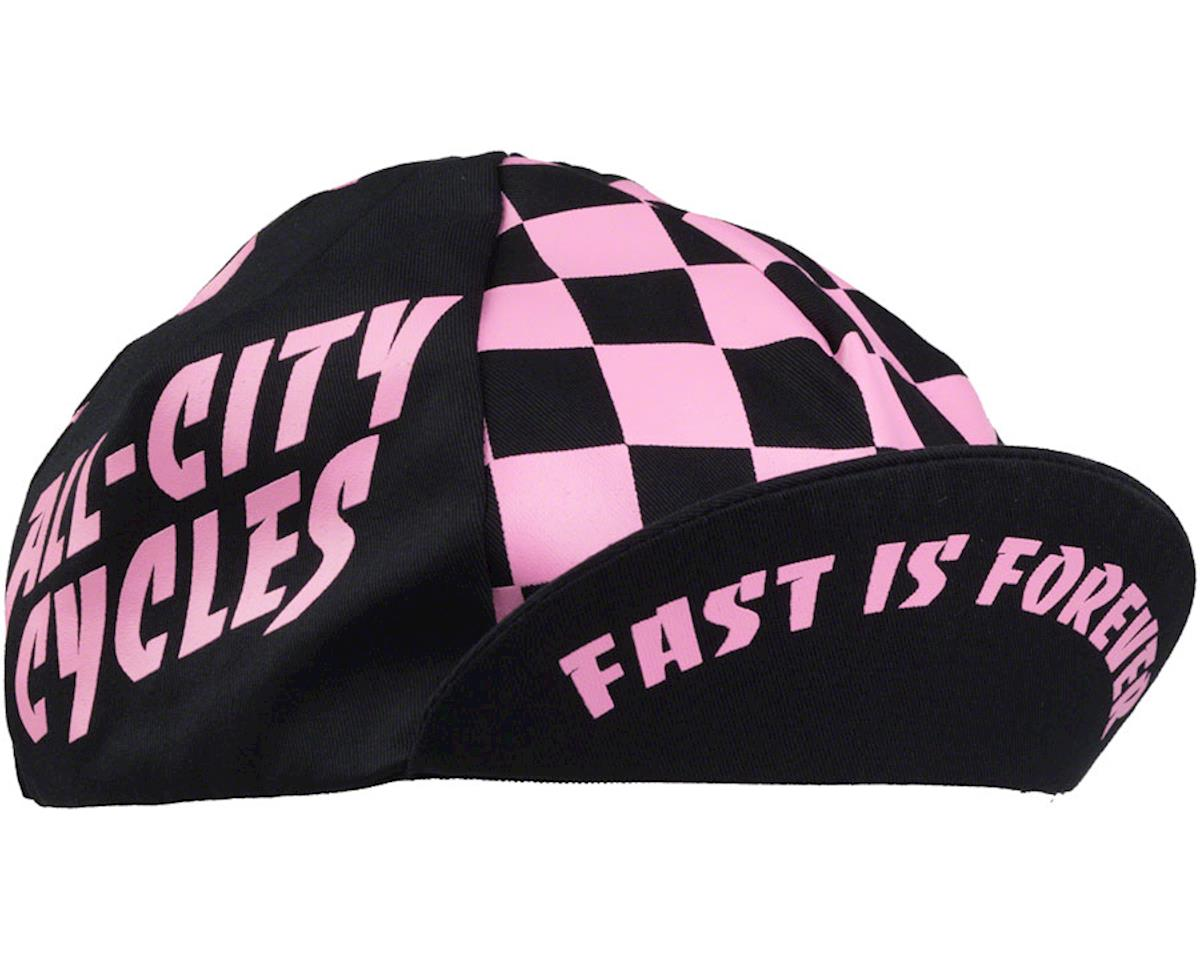 All-City Check Yo'Self Cycling Cap (Black/Pink) (One Size)