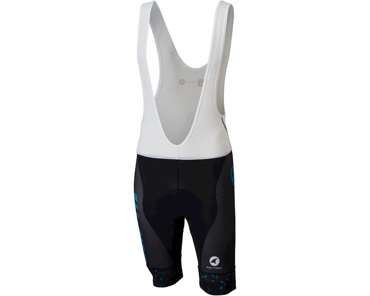 Image 1 for All-City Electric Boogaloo Men's Bib Short (Black/Blue) (XS)
