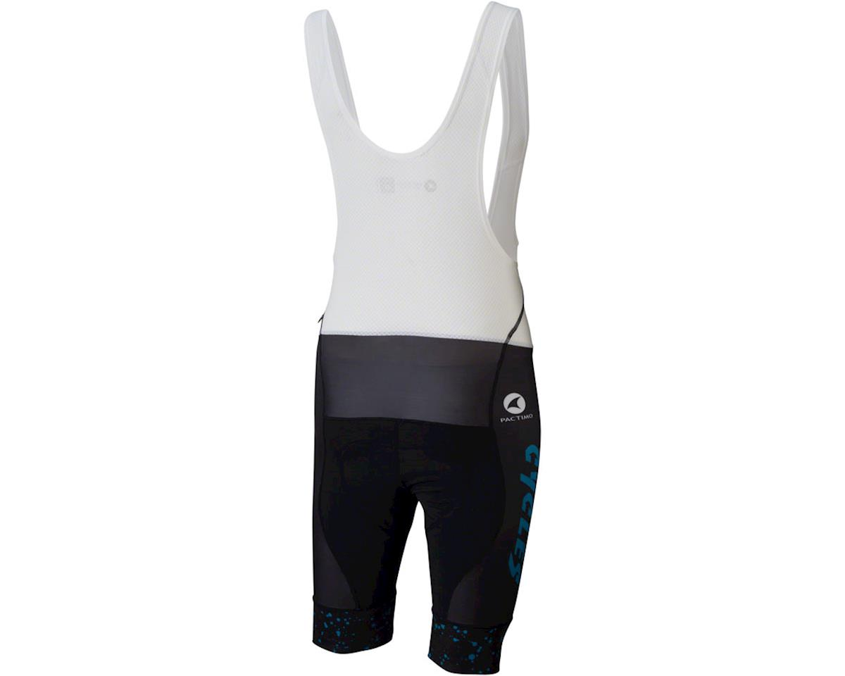Image 2 for All-City Electric Boogaloo Men's Bib Short (Black/Blue) (XS)