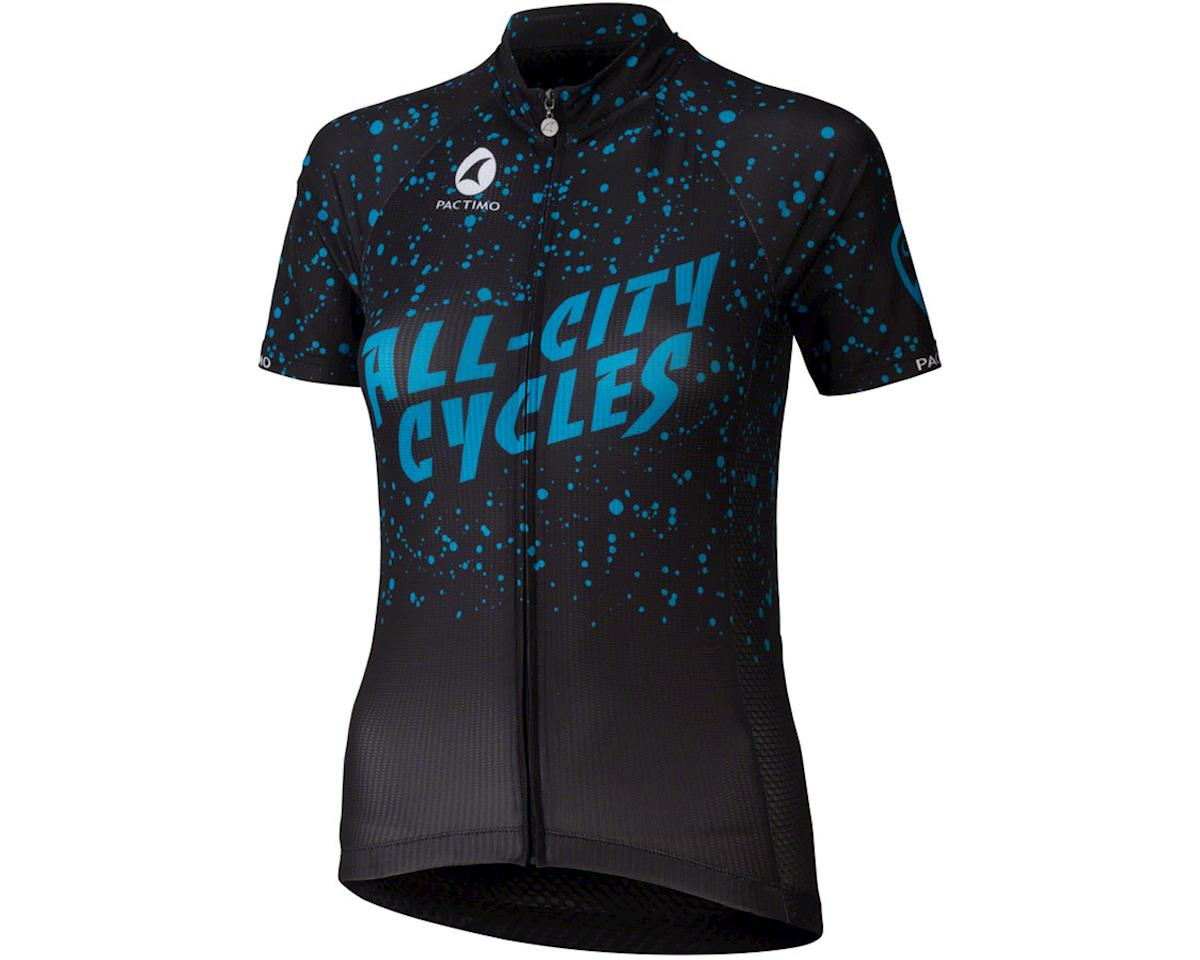 All-City Electric Boogaloo Women's Jersey: Black/Blue XL