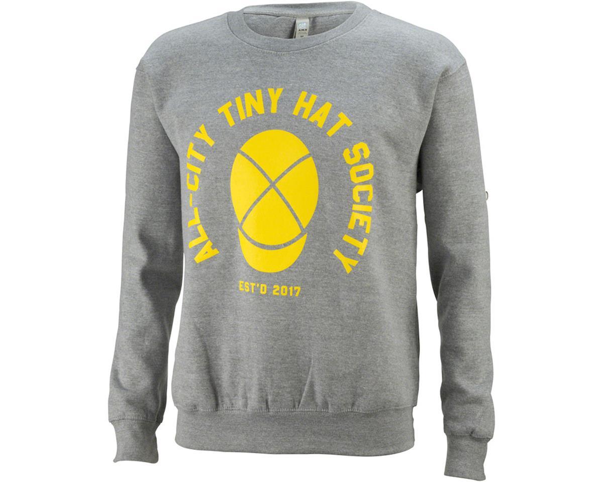 All-City Tiny Hat Crewneck Sweatshirt (Gray/Yellow) (XL)