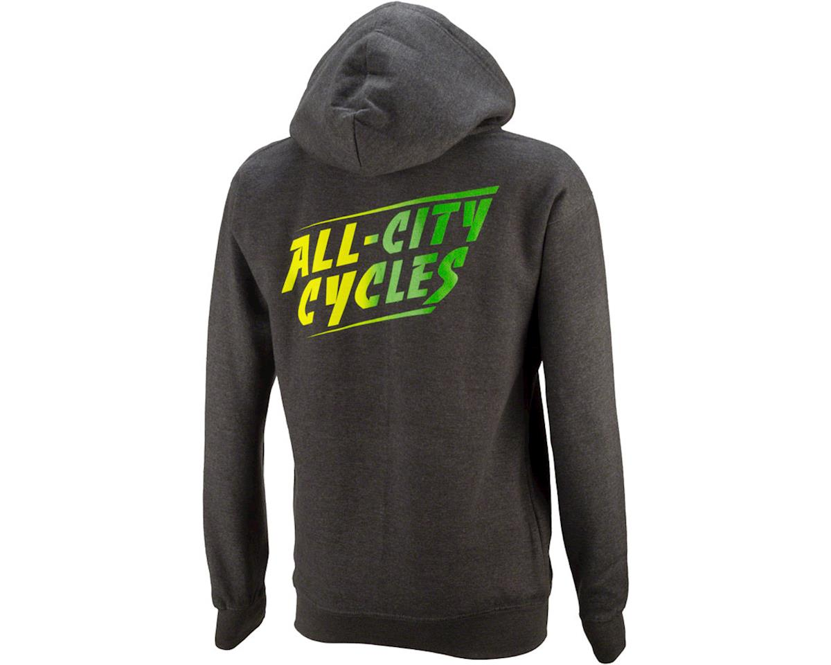 All-City California Fade 2.0 Hoodie (Charcoal Gray/Green Fade) (S)