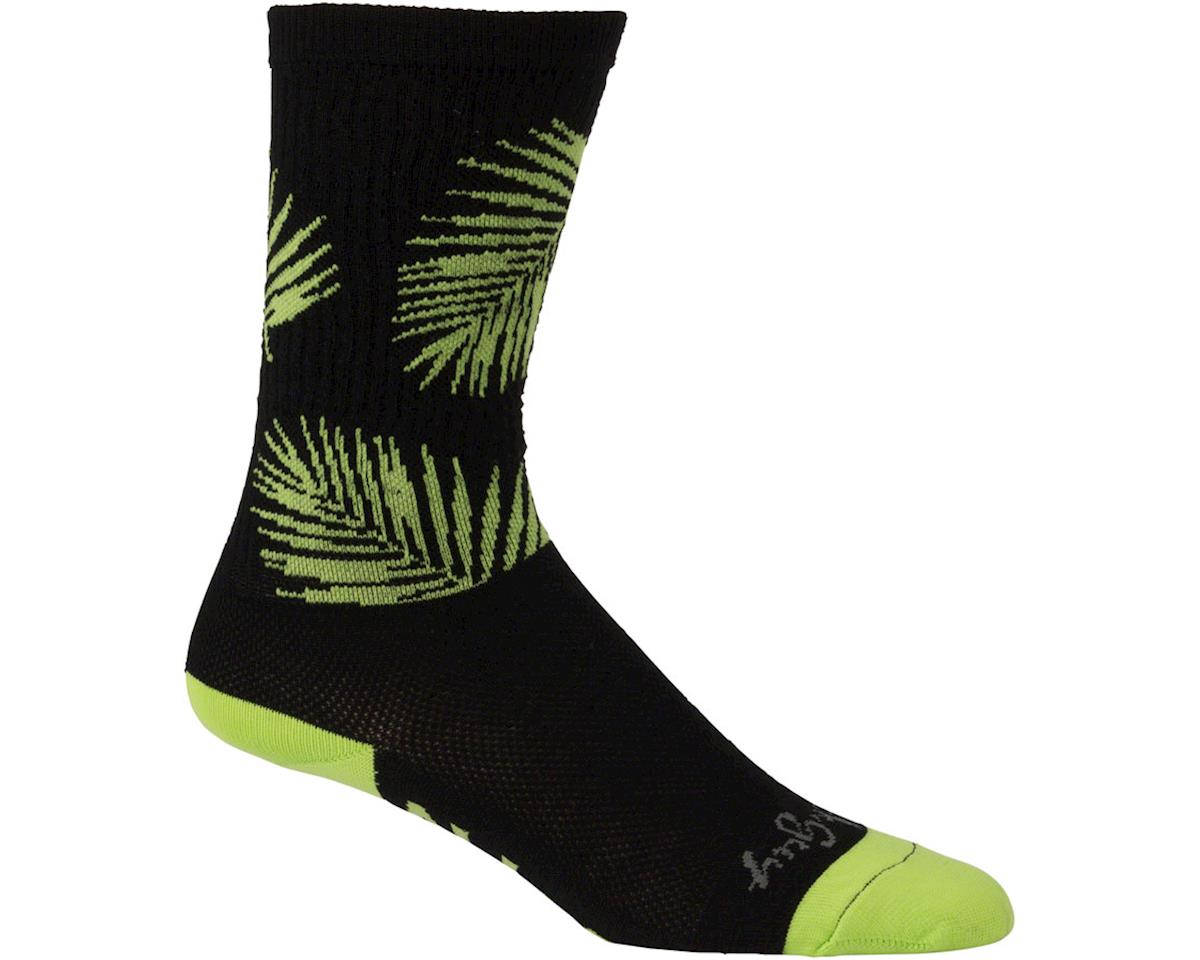 "All-City Key West Carl 8"" Tall Sock (Black/Green) (S/M)"
