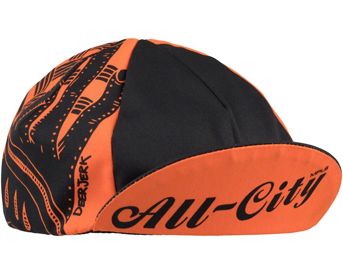 All-City All-City/ DeerJerk Collaboration Cycling Cap (Orange/Black) (One Size)
