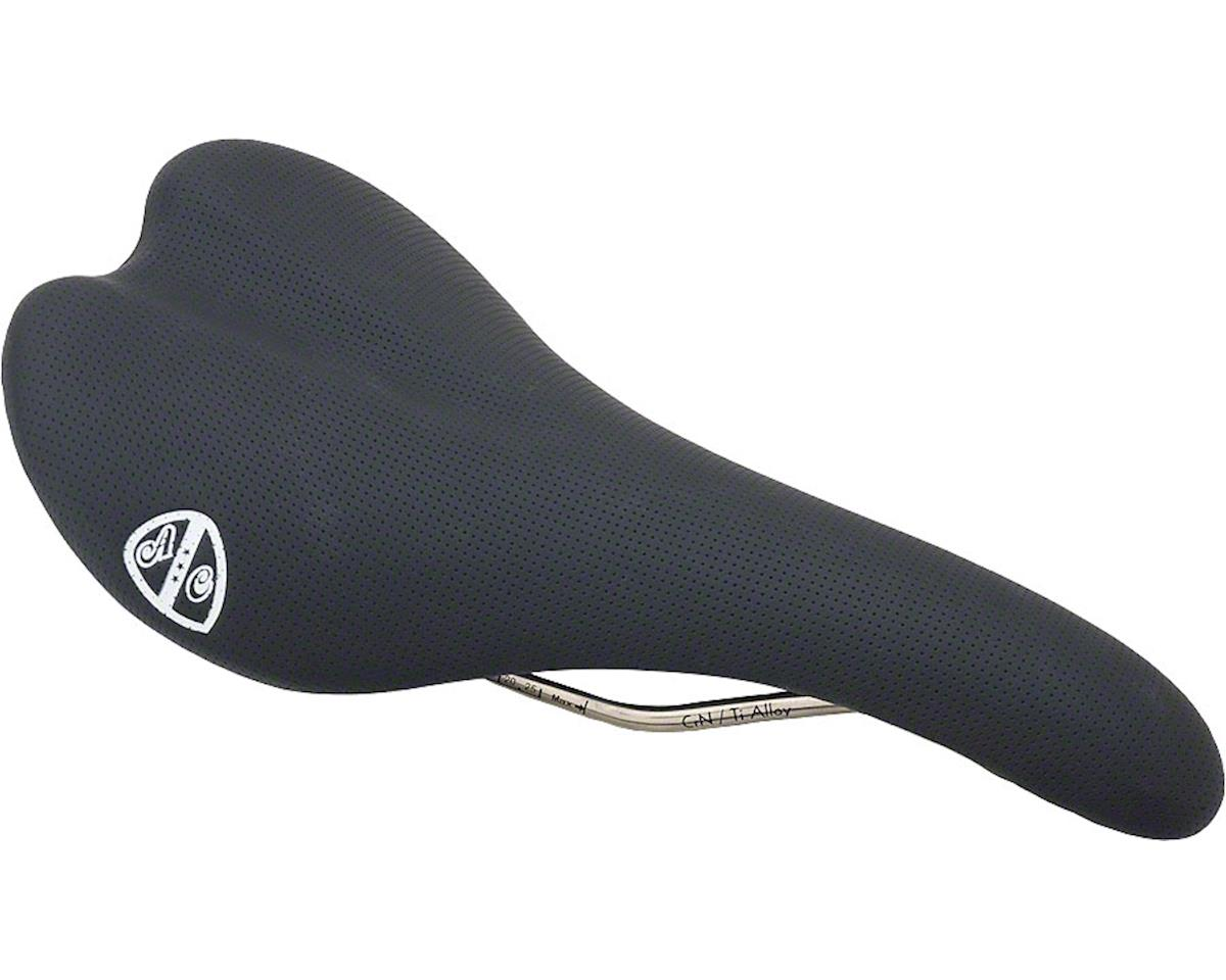 All-City Gonzo Perforated Leather Saddle (Black)