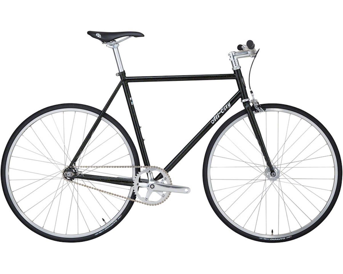 All-City 46cm Big Block Complete Bike, Black/Green Sparkle