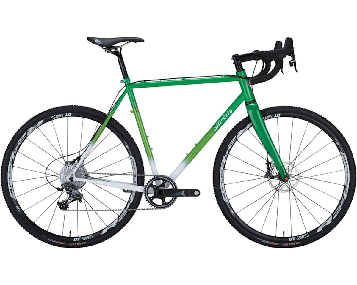 All-City 49cm Macho King Limited Complete Bike, Green/White Fade